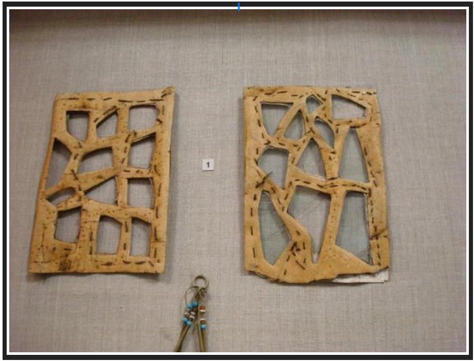 birch bark window frame